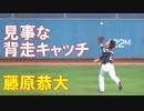 藤原恭大  外野ノック  オリックス対ロッテ(2019-0226)