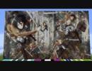 【マイクラ】進撃の巨人 season 3 part 2 ED 再現【ドット絵&演奏】