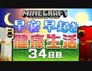 第51位:【Minecraft】早寝早起き 健康生活 34日目