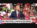 トランプ氏の大統領選出馬演説生中継を途中で切り批判を展開するCNN