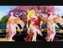 MMD【PiNK CAT】Tda式改変 初音ミク 巡音ルカ 鏡音リン Japanese Kimono