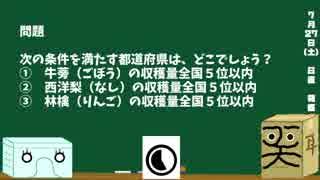 【箱盛】都道府県クイズ生活(58日目)2019年7月27日