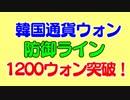 1ドル1200ウォン突破記念速報!次の目標と1997年韓国通貨危機時の状況について