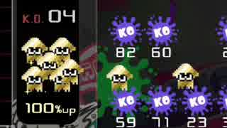 【実況】スプラトゥーンスキンが最高なテトリス99 #64