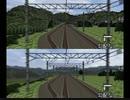 【エミュ+改造】電車でGO! プロフェッショナル2 視界距離変更コード比較(大宮~赤羽のちょっと先、敦賀~京都)