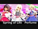 【東方MMD】魔理沙霊夢アリスでspring of life ステージ版