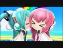 【3DS】初音ミク Project mirai でらっくす『逆さまレインボー(ミク・ルカ) PV』