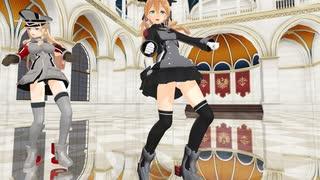 【MMD 艦これ】 ビス子&オイゲンで ♪ Shake It Off ♪  [1080P]