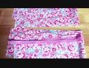 ピンクの花柄シュシュ♡手縫いで作ってみました♪