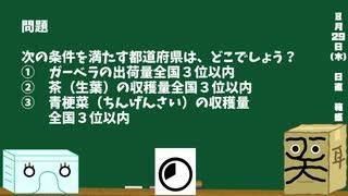 【箱盛】都道府県クイズ生活(91日目)2019年8月29日