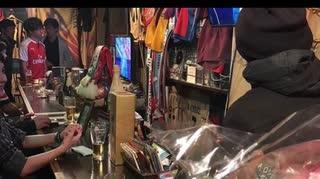 ファンタジスタカフェにて プレミアリーグ忘年会 いつものユナイテッド、アーセナルサポ来店で軽くトーク(2018年12月頃)
