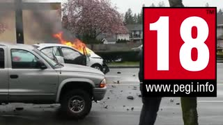 【衝撃映像】世界の衝撃交通事故映像2019.mp4【危険事故】