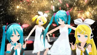 【MMD】あぴミクさんとリンちゃんに『ラストダンス』歌って貰いました【リップ配布】