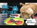 【冷た〜い犬ごはん】夏で暑いので犬の食べ物を全部氷の中に入れてあげてみたらこうなった
