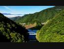 目覚めの早い 塩川ダム 2019 空撮 山梨県北杜市