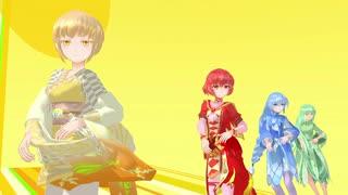 【MMD杯ZERO2予告動画】 四人娘で何系でもない