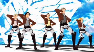 【MMD杯ZERO2予告動画】リヴァイ班は一騎当千【進撃のMMD】