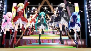 【MMD】 ゴシックあぴ達で ♪ いくぜ!怪盗少女 ♪ [1080P]