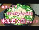【NWTR料理研究所】ジンギスカン鍋でホルモン鍋【評価☆3.5】