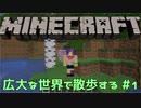 【実況プレイ】広大な世界で散歩する【Minecraft】【第四回】#1