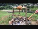 焚き火で鳥の丸焼き No.4