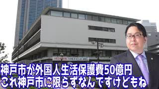 【泥棒に】 神戸市の外国人生活保護が年間50億円 【追い銭】