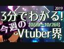 【10/20~10/26】3分でわかる!今週のVTuber界【佐藤ホームズの調査レポート】