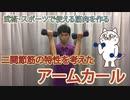 武術・スポーツで使える筋肉になるアームカール〜二関節筋である上腕二頭筋の特性を理解して筋トレ