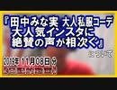 『田中みな実 大人気インスタに絶賛の声が相次ぐ』についてetc【日記的動画(2019年11月08日分)】[ 222/365 ]