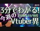 【11/10~11/16】3分でわかる!今週のVTuber界【佐藤ホームズの調査レポート】