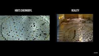 チェルノブイリ原発事故 ・ 再現ドラマと実録フィルム ・ 映像比較