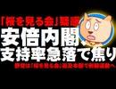 【桜を見る会】安倍内閣、支持率急落で焦り - 野党は追及本部設置で倒閣運動へ