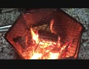 家キャン飯2焼肉キャベツ巻きとエビとイカの串焼き