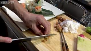 【握ってみた】生きたままのクルマエビを握り寿司と刺身にしました