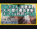 『「いだてん」視聴率 大河歴代最低更新!ネットでは好評も…!?』についてetc【日記的動画(2019年12月16日分)】[ 260/365 ]