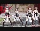 【MMD艦これ】金剛4姉妹でSweet Devil Colate Remix ミニスカVer 歌詞つき
