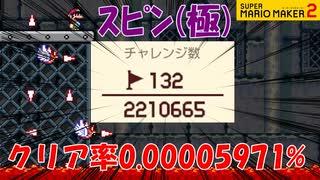 【実況】世界鬼畜ランキング5位!スピンジャンプの極み! スーパーマリオメーカー2 世界のコース