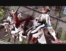 【MMD艦これ】金剛4姉妹でSweet Devil Colate Remix ニーソガーターローアングルVer 歌詞つき