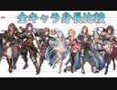 【グラブル】全キャラクター身長比較