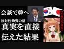 日韓首脳会談で安倍首相がムンへ日本の放射性物質は韓の100分の1を伝えた結果...事実を突きつけられた瞬間の様子
