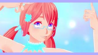 【APヘタリアMMD】北米娘で連合で好き!雪!本気マジック