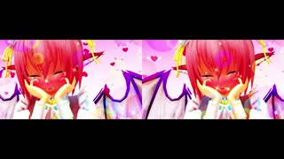 【東方MMD】みすちーが可愛いだけの動画【立体視/交差法】