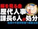【桜を見る会】名簿の不適切な管理で歴代人事課長6人が処分