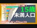 【人口】30年間の15歳未満人口の推移(1991~2019) ~ランキング~