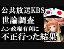 韓国公共放送KBSがムン政権に有利な世論調査を設計していた事が判明し驚愕