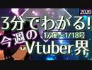 【1/12~1/18】3分でわかる!今週のVTuber界【佐藤ホームズの調査レポート】