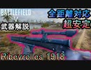 【BF5武器解説】初心者オススメ低反動銃「Ribeyrolles 1918」で全距離を制圧せよ!【PS4 Pro/BFV】