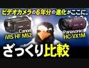 ★比較動画★手ブレ防止すげー!Panasonic HC VX1M / Canon iVIS HF M52ざっくり比較【着ぐるみ 鳥】