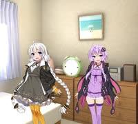 【R-18】後輩女子のあかりちゃんと先輩のゆかりさんのお部屋で…