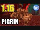 【Minecraft】アップデート 1.16新モブピグリンとは!? アンディマイクラ (Minecraft JE 20w07a)